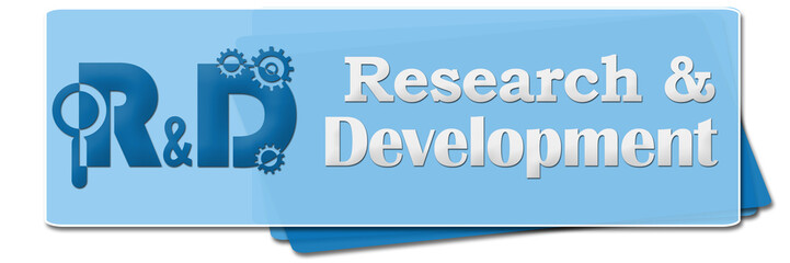 R And D - Research And Development Blue Side Squares