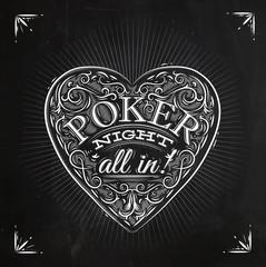 Chirwa poker night chalk