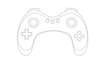 Video game console contour