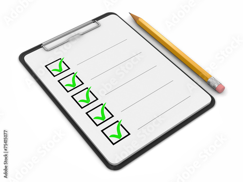 Clipboard Checklist (clipping path included) - 75415077