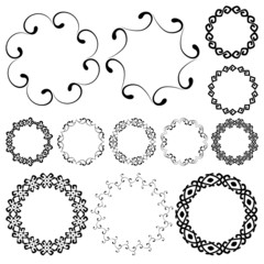 Smooth swirly round frames in mega pack
