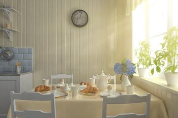 3D - Vintage Kitchen - Shot 2