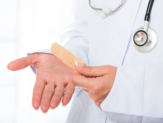 Doctor's hands with