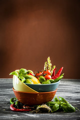 Fresh vegetables in a bowl