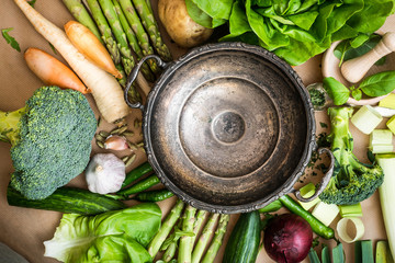 vegetables and bowl