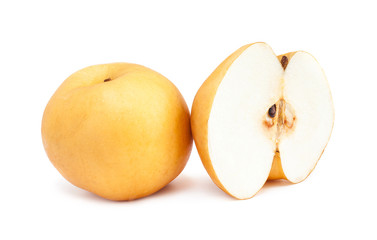 Fresh Asian pear isolated on white background