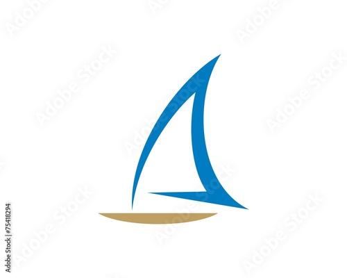 boat logo template - 75418294