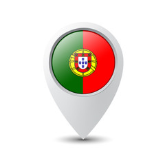 Flag Pin Portugal