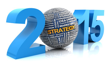 2015 business strategy, 3d render