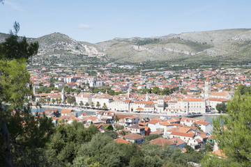 Aerial view on the town of Trogir in Croatia