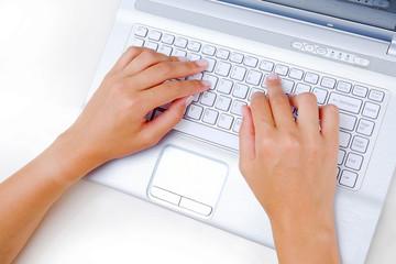 Laptop Texting