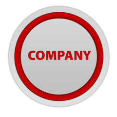 Company circular icon on white background