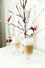 Two latte for Christmas breakfast