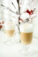Two latte for Christmas breakfast