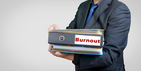 Burnout businessman