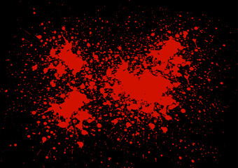 Abstract blood splatter on black color