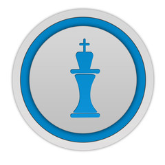 Chess circular icon on white background