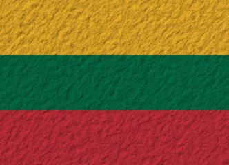 Lithuania flag stone