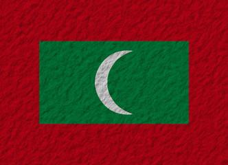 Maldives flag stone