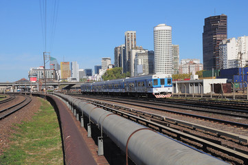Railway by the central station in Buenos Aires.