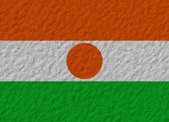 Niger flag stone