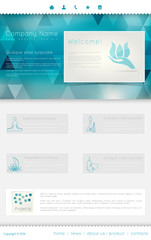 Website template for spa or beauty salon