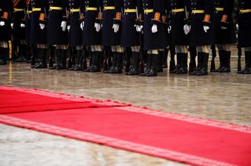 Red carpet military ceremony