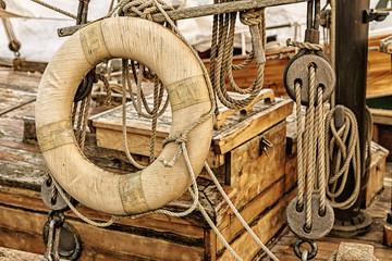 Detail eines Windjammers