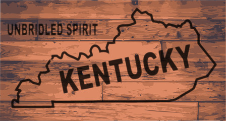Kentucky Map Brand