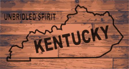 Kentucky Map Brand