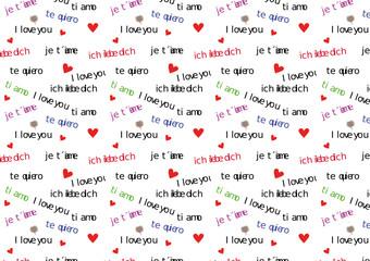 ich liebe dich - Muster nahtlos