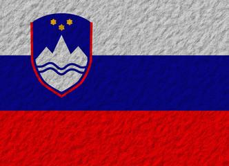 Slovenia flag stone