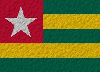Togo flag stone