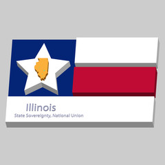 the outline of the state of Illinois