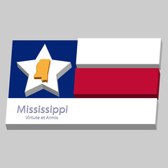 the outline of the state of Mississippi