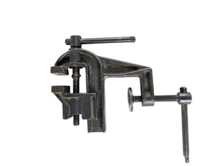 Vise tool isolated on white
