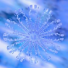 Schneeflocke - 3d Render