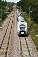 Train on the line in Sweden