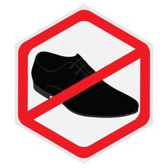 No, shoes, sign, hexagon