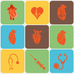 Cardiology. Heart doctor vector icon