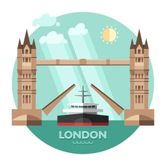 London (England) city vector background.