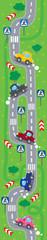 Road vertical pattern or illustration