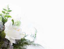 "Постер, картина, фотообои ""bouquet composition with white amaryllis"""