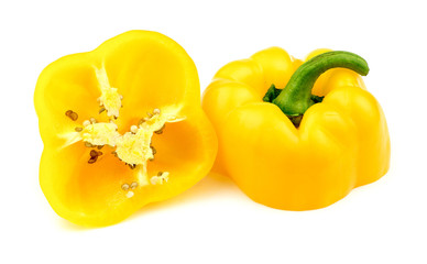 Halved yellow bell pepper