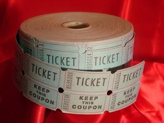 Roll of raffle tickets