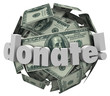 Donate Money Cash Sphere Ball Give Share Donation Help Others