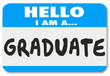 Graduate Nametag Sticker Trained Education Student Learning Comp