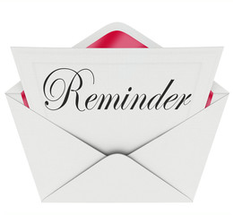 Reminder Word Note Message Remember Important Appointment Meetin