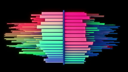 Abstract audio visualizer multicolored equalizer