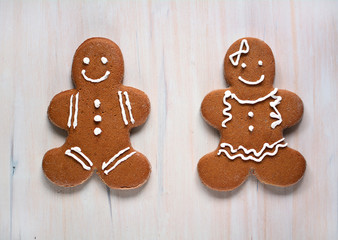 Gluten free gingerbread boy and girl